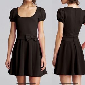 Red Valentino Bow-Waist Jersey Dress, Black XS